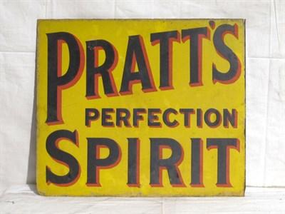 Lot 33 - 'Pratts' Enamel Advertising Sign