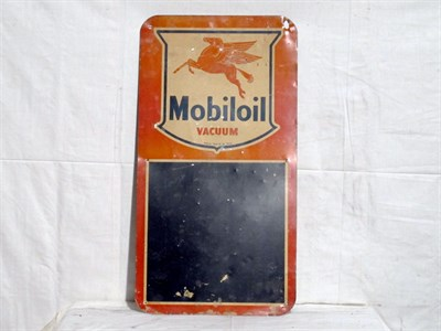 Lot 38 - 'Mobiloil' Tin Advertising Sign