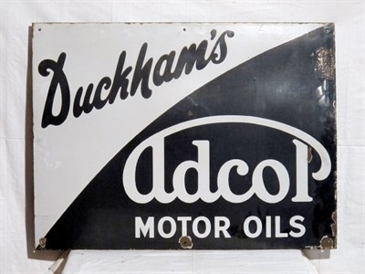 Lot 40 - 'Duckham's Adcol' Enamel Advertising Sign
