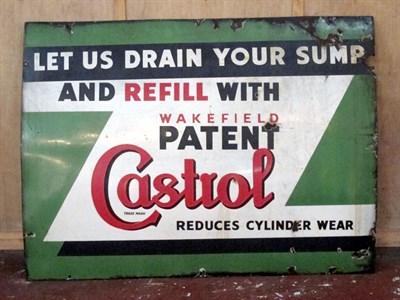 Lot 41 - 'Wakefield Castrol' Enamel Advertising Sign