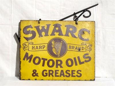 Lot 48 - 'Swarc Harp Brand Motor Oil' Enamel Advertising Sign