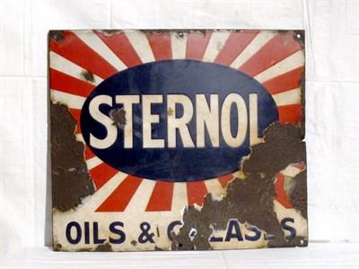 Lot 49 - 'Sternol' Enamel Advertising Sign