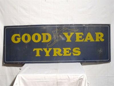 Lot 50 - 'Goodyear Tyres' Enamel Advertising Sign