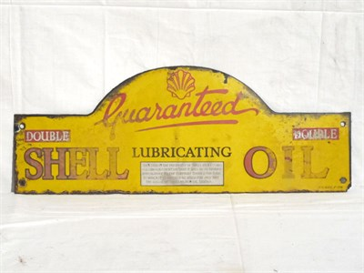 Lot 51-'Shell Lubricating Oil Double Grade' Enamel Advertising Sign