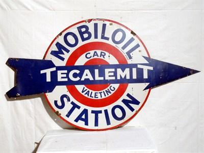 Lot 53 - 'Mobiloil Tecalemit' Enamel Advertising Sign