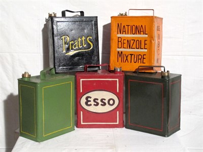 Lot 54-Five Two-Gallon Capacity Petrol Cans