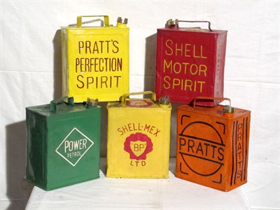 Lot 55-Five Two-Gallon Capacity Petrol Cans