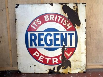 Lot 60 - 'Regent Petrol' Enamel Advertising Sign