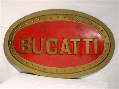 Lot 63-Reproduction 'Bugatti' Advertising Sign