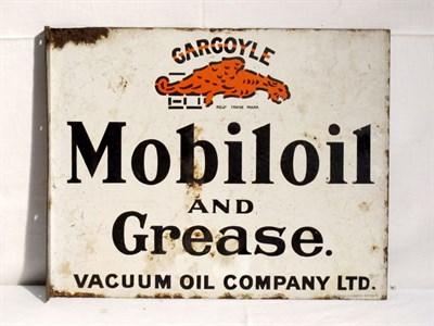 Lot 65 - 'Mobiloil Gargoyle' Enamel Advertising Sign