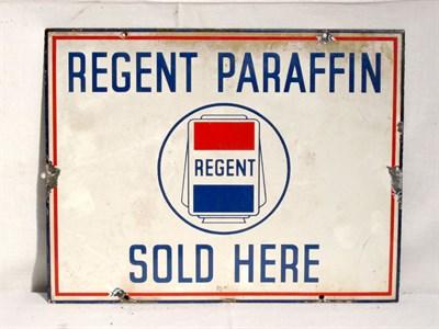 Lot 66 - 'Regent Paraffin' Enamel Advertising Sign