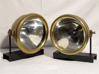 Lot 73-Pair of CAV 'Model B' Fork Mounted Headlamps