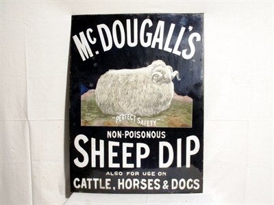 Lot 75 - 'McDougall's Sheep Dip' Enamel Sign