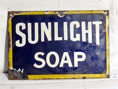 Lot 76 - 'Sunlight Soap' Advertising Sign