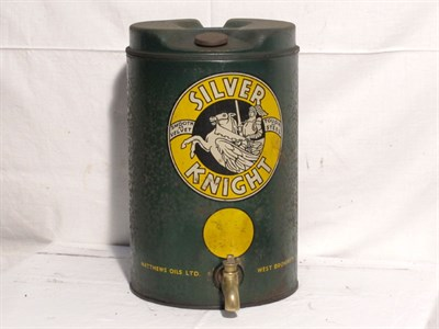 Lot 81-'Silver Knight' Motor Oil Can