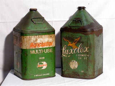 Lot 83-Two 5-Gallon Capacity Oil Tins