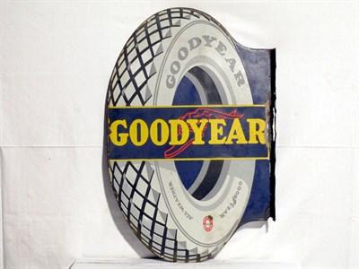 Lot 84 - 'Goodyear Tyres' Enamel Advertising Sign