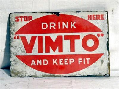 Lot 85 - 'Drink Vimto' Small-Format Enamel Advertising Sign