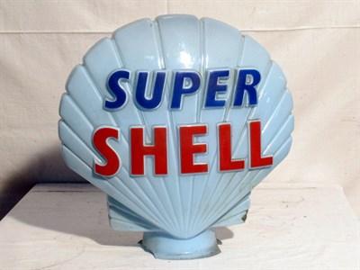 Lot 90 - 'Super Shell' Glass Petrol Pump Globe