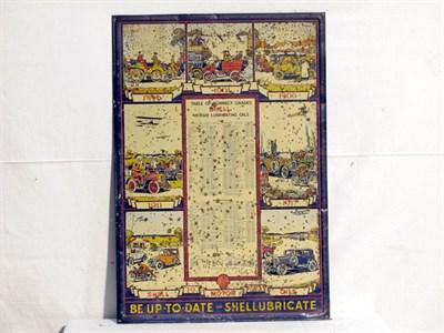 Lot 96 - 'Shell Oils' Pictorial Tin Wall Calendar