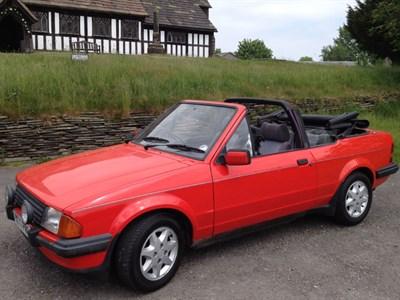 Lot 80 - 1983 Ford Escort 1.6i Cabriolet