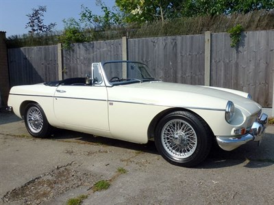 Lot 45-1966 MG B Roadster
