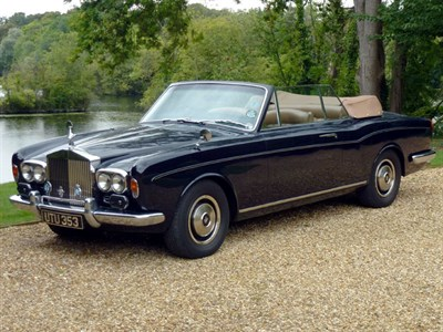 Lot 72-1972 Rolls-Royce Corniche Convertible