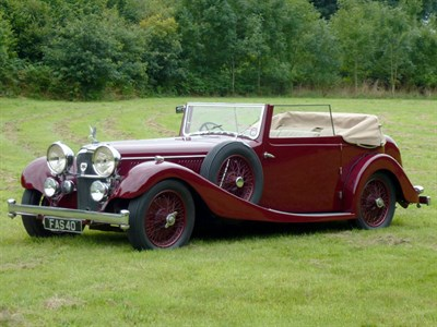 Lot 22-1934 Alvis Speed 20 SC Drophead Coupe