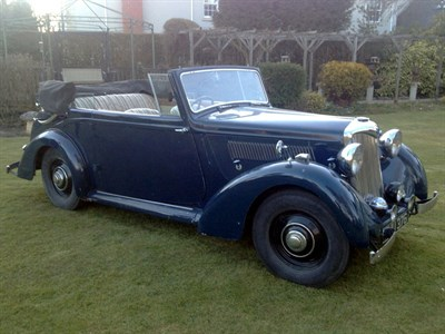 Lot 51-1939 Riley 12hp Sprite Drophead Coupe