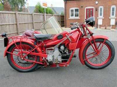 Lot 54-1929 Moto Guzzi Sport 14 Combination