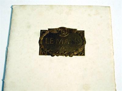 Lot 2-'Le Mans 1927' by Bentley Motors Ltd, 1927 Victory Booklet