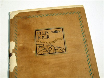 Lot 4 - 'Plus Four' by Bentley Motors Ltd, 1930 Victory Booklet