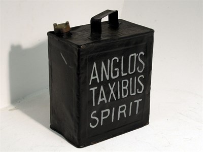Lot 7 - A 2-Gallon Petrol Can - 'Anglo's Taxibus Spirit'