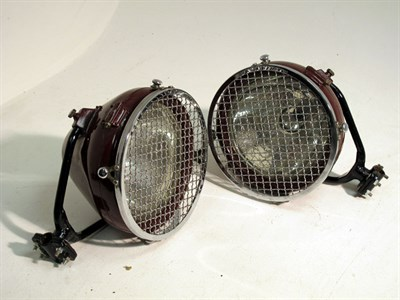 Lot 8 - A Pair of Restored Headlamps