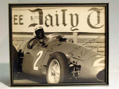 Lot 24-A Large-format, Hand-signed Photograph depicting Jean Behra