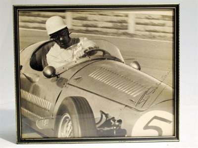 Lot 25-A Large-format, Hand-signed Photograph Depicting Roy Salvadori