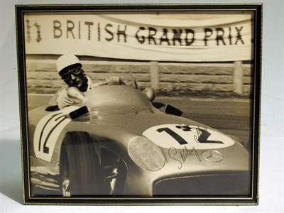 Lot 26-A Large-format, Hand-signed Photograph Depicting Stirling Moss