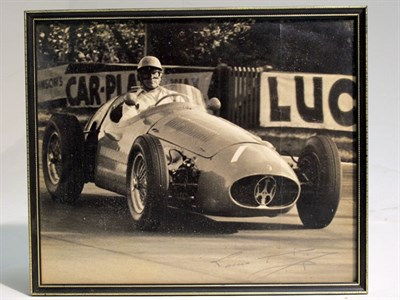 Lot 28-A Large-format, Hand-signed Photograph Depicting Louis Rosier