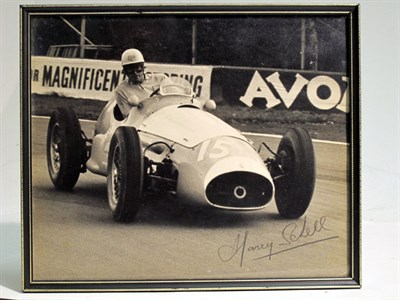 Lot 29-A Large-format, Hand-signed Photograph Depicting Harry Schell