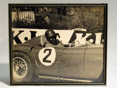 Lot 31-A Large-format, Hand-signed Photograph Depicting J.M. Fangio