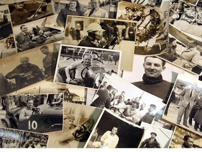 Lot 34-A Quantity of Motor Racing Driver Photographs