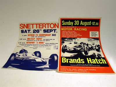 Lot 76 - Two Original Race Advertising Posters