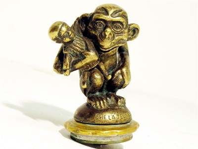 Lot 41-'Monkey Clutching a Doll' Accessory Mascot by Bourcart