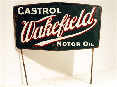 Lot 45-A 'Castrol Wakefield Motor Oil' Advertising Sign
