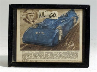 Lot 70 - A Hand-Signed Malcolm Campbell Artwork