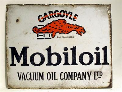 Lot 72-A Double-sided Mobil Oil Gargoyle Enamel Advertising Sign