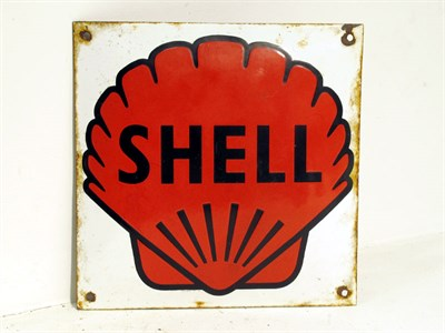 Lot 94-A Small Shell Pictorial Enamel Sign