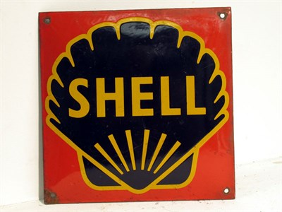 Lot 95 - A Small Shell Pictorial Enamel Sign