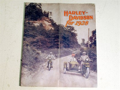 Lot 83-A Sales Brochure for Harley Davidson Motorcycles