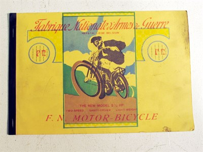Lot 84-A Sales Brochure for the 'FN Motor Bicycle'
